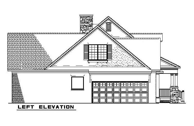 Country, Southern House Plan 61377 with 4 Beds, 3 Baths, 2 Car Garage Picture 1