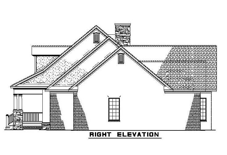 Country, Southern House Plan 61377 with 4 Beds, 3 Baths, 2 Car Garage Picture 2