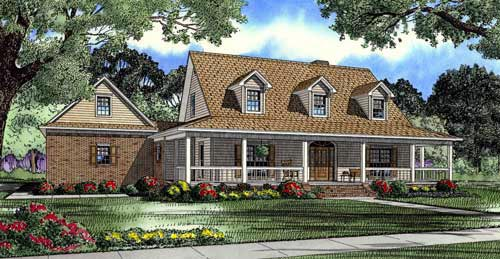 House Plan 61379 Elevation