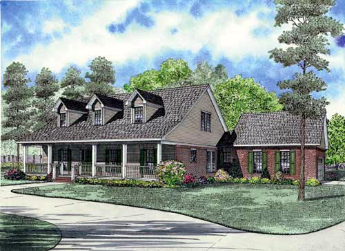 House Plan 61381 Elevation