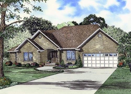 European Traditional House Plan 61384 Elevation