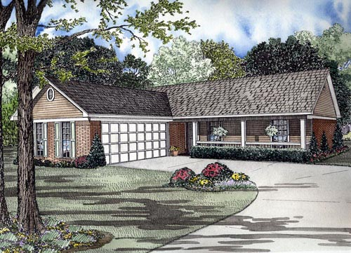 House Plan 61385 Elevation