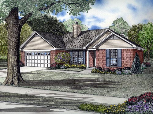 House Plan 61386 Elevation