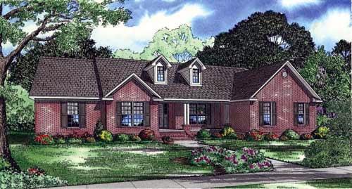 House Plan 61389 Elevation