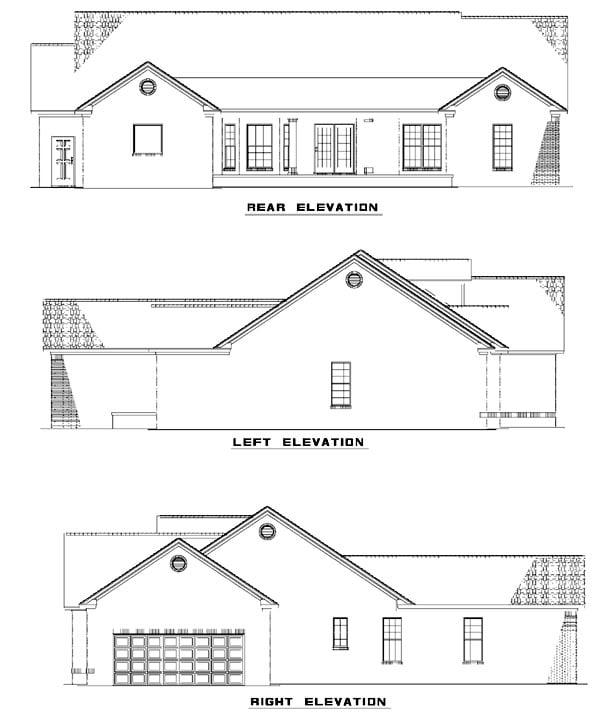 House Plan 61389 Rear Elevation