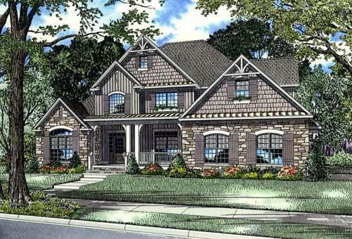 House Plan 61396 Elevation