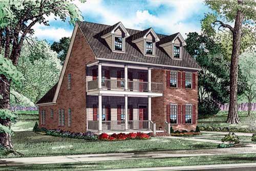 House Plan 61397 Elevation