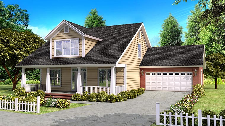 Cape Cod Country Traditional House Plan 61400 Elevation