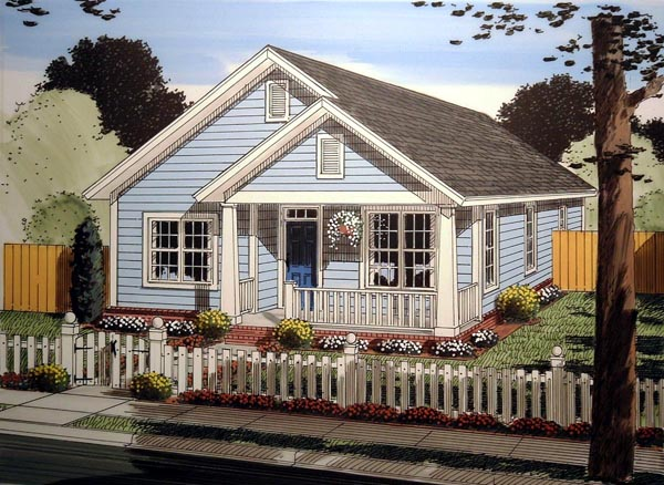 Cottage Traditional House Plan 61404 Elevation