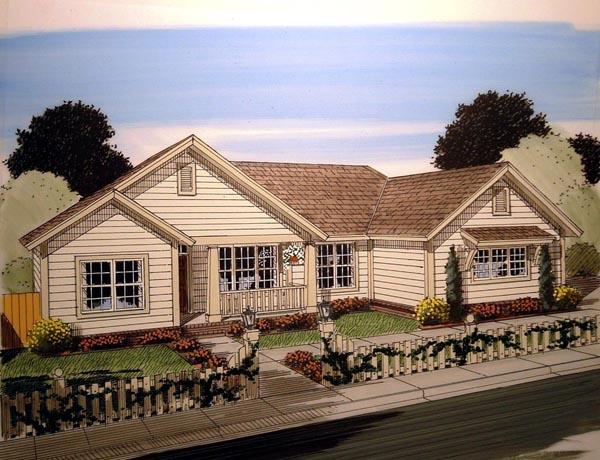 Craftsman Traditional House Plan 61407 Elevation