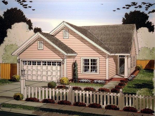Craftsman Traditional House Plan 61409 Elevation