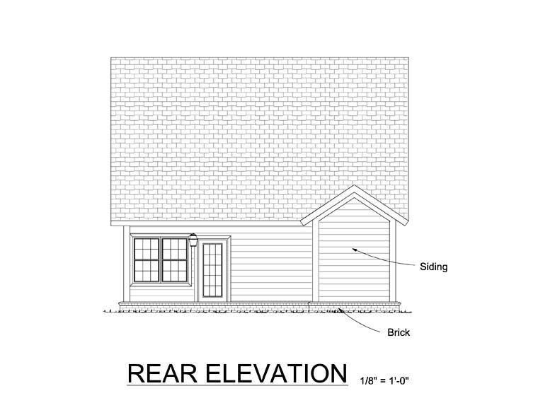 Traditional House Plan 61411 Rear Elevation