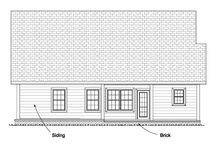 Traditional House Plan 61427 Rear Elevation
