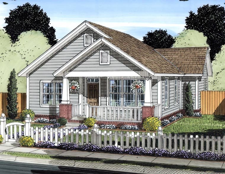 Elevation of Traditional   House Plan 61429