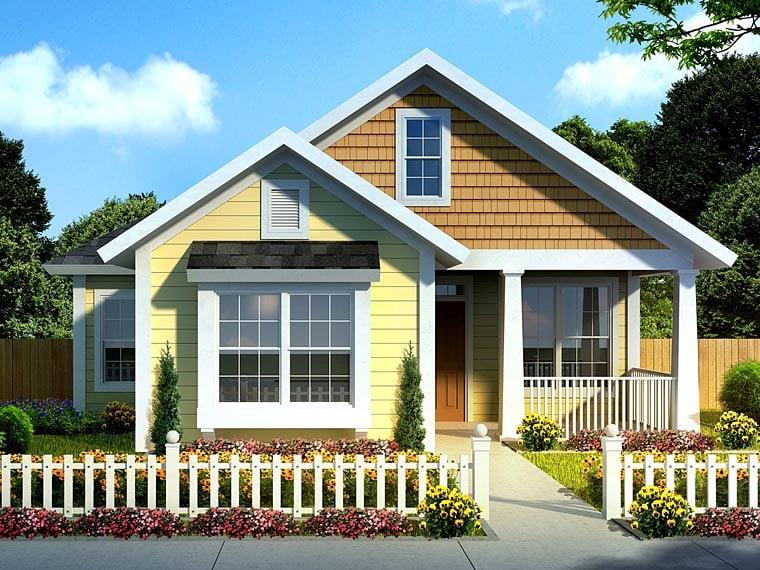Cottage Craftsman Traditional House Plan 61437 Elevation