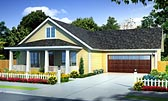 Plan Number 61438 - 1277 Square Feet