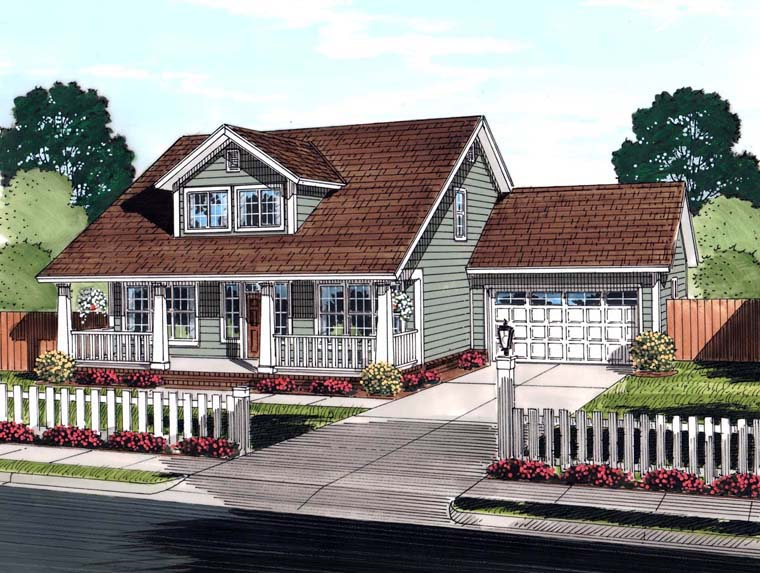 Cape Cod Country Southern House Plan 61442 Elevation