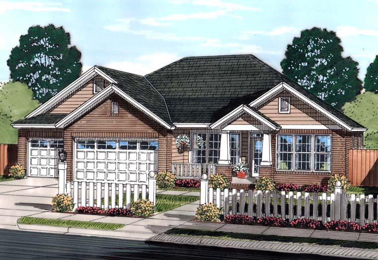 Bungalow Traditional House Plan 61445 Elevation