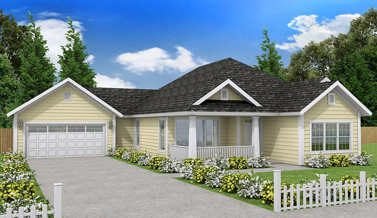 Traditional House Plan 61447 Elevation