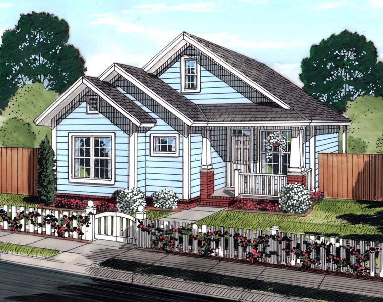 Cottage Traditional House Plan 61448 Elevation