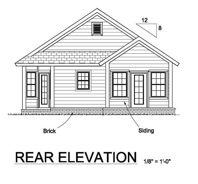 House plan 61451 at for Different elevations of house