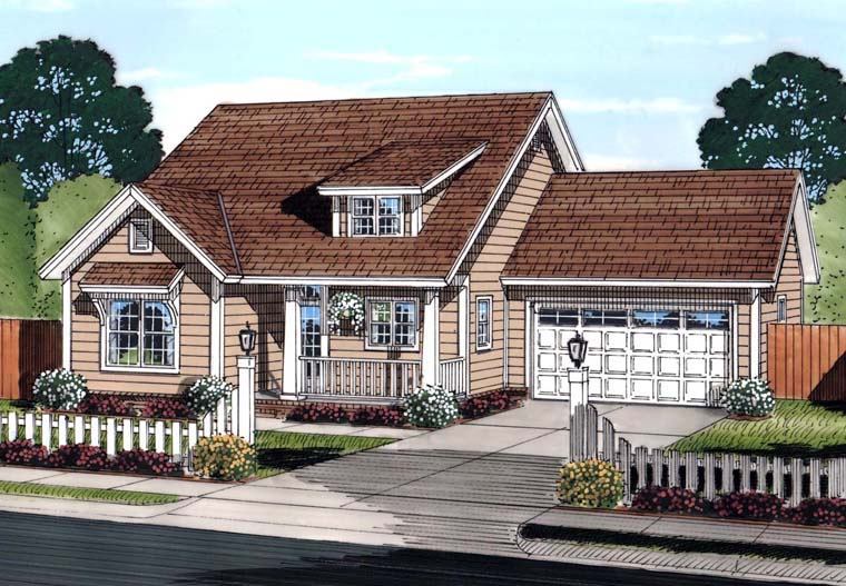 Traditional House Plan 61454 Elevation