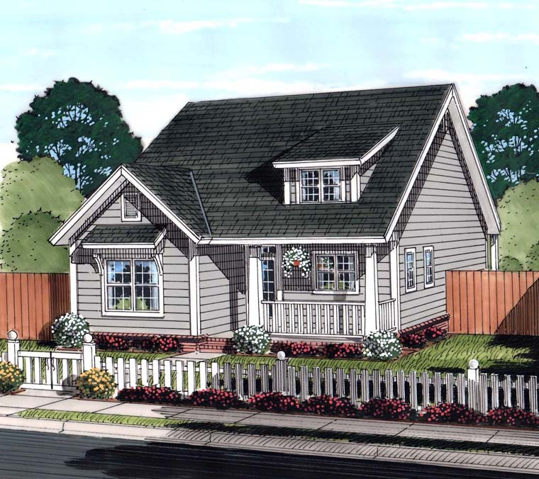 Country, Ranch, Traditional House Plan 61455 with 3 Beds, 2 Baths Elevation