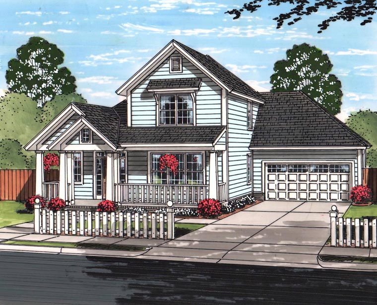 Cottage Craftsman Traditional House Plan 61464 Elevation