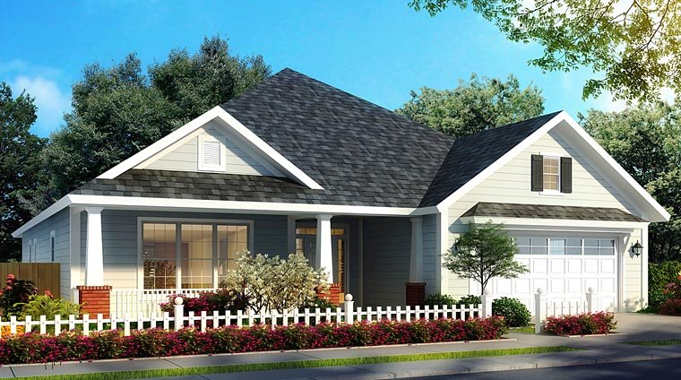 Bungalow Country Traditional House Plan 61472 Elevation