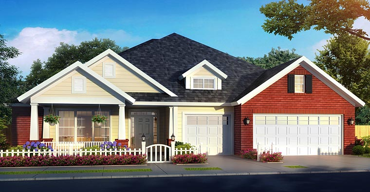 Bungalow Cottage Country Traditional House Plan 61473 Elevation