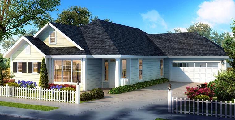 Cabin Country House Plan 61478 Elevation