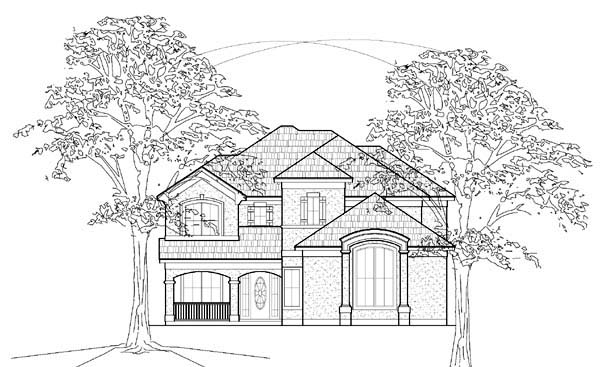 European House Plan 61525 Elevation