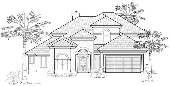 Mediterranean House Plan 61678