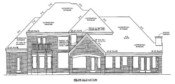 Farmhouse House Plan 61752 Rear Elevation