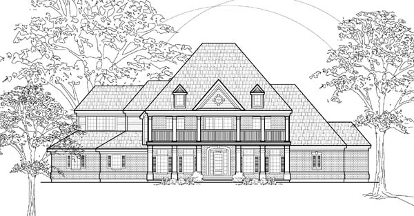 European House Plan 61754 Elevation