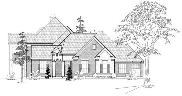 European House Plan 61761 Elevation