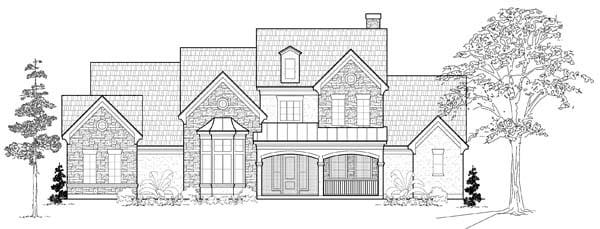 Tudor House Plan 61763 Elevation