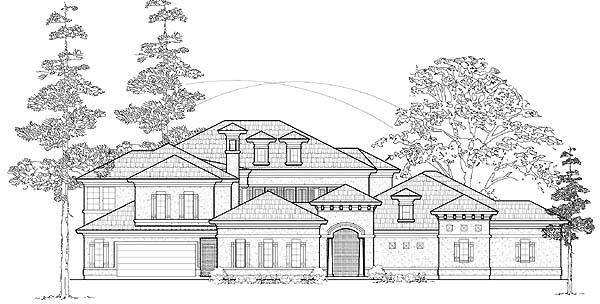 Mediterranean House Plan 61765 Elevation