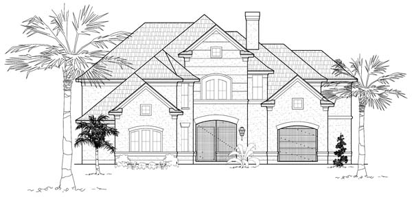 Traditional House Plan 61767 Elevation
