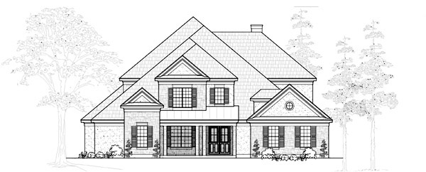 Traditional House Plan 61778 Elevation