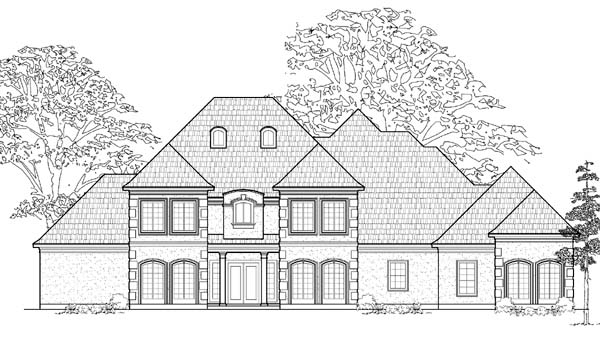 European House Plan 61791 Elevation