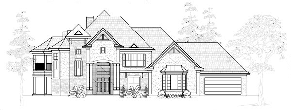 Traditional House Plan 61796 Elevation