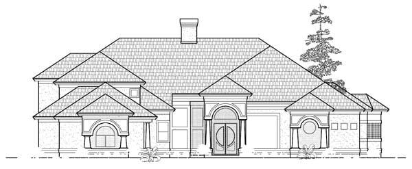 European House Plan 61798 Elevation
