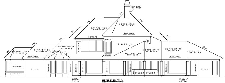 Victorian House Plan 61813 Rear Elevation