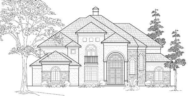 European House Plan 61819 Elevation