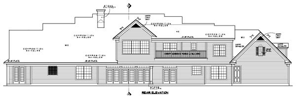 Traditional House Plan 61820 Rear Elevation