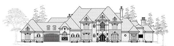 European House Plan 61829 Elevation