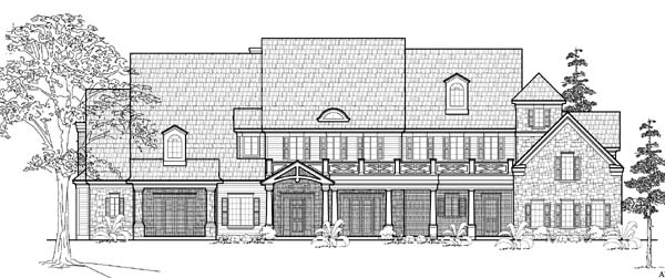 Traditional House Plan 61834 Elevation