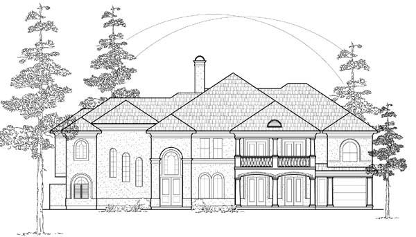 Mediterranean House Plan 61871 with 6 Beds, 7 Baths, 3 Car Garage Elevation