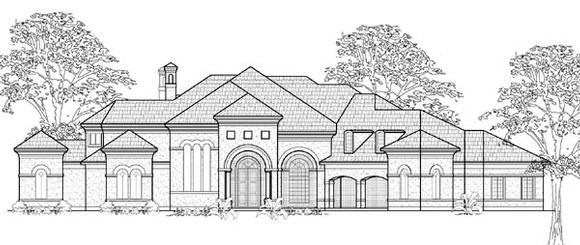 Mediterranean House Plan 61888 with 5 Beds, 6 Baths, 4 Car Garage Elevation